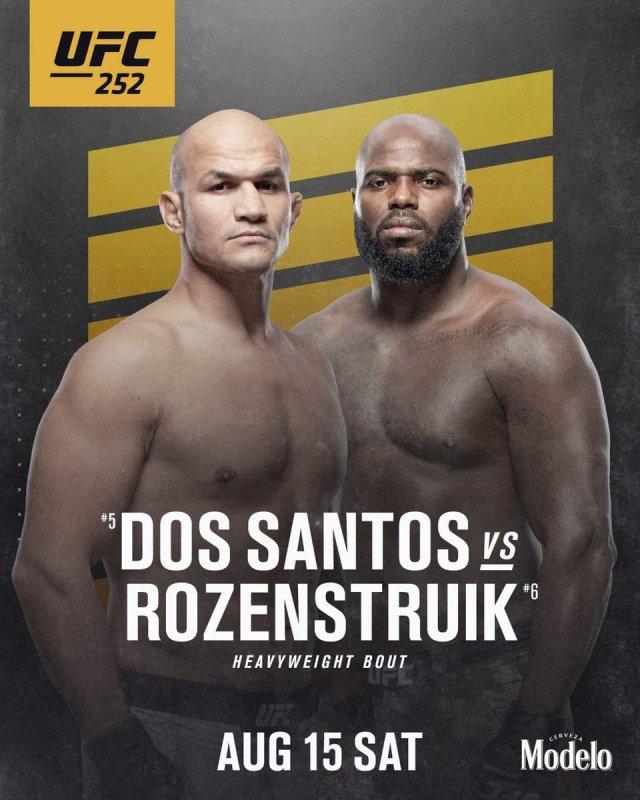 UFC 252: Junior dos Santos vs Jairzinho Rozenstruik – FightPost ...